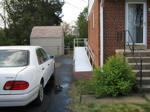 Custom ramp outside house