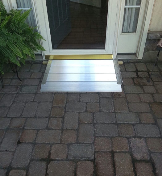 Threshold ramp installed by Schaffer Construction