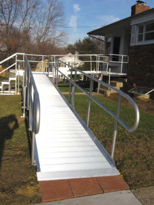 Custom wheelchair ramp