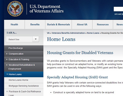 Grants for Disabled Veterans The US Department of Veterans Affairs