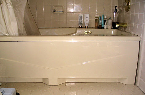 View of tub before cut